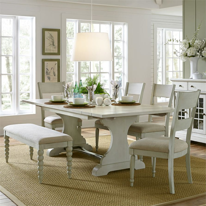 Harbor View III (731-DR) 6 Piece Trestle Table Set
