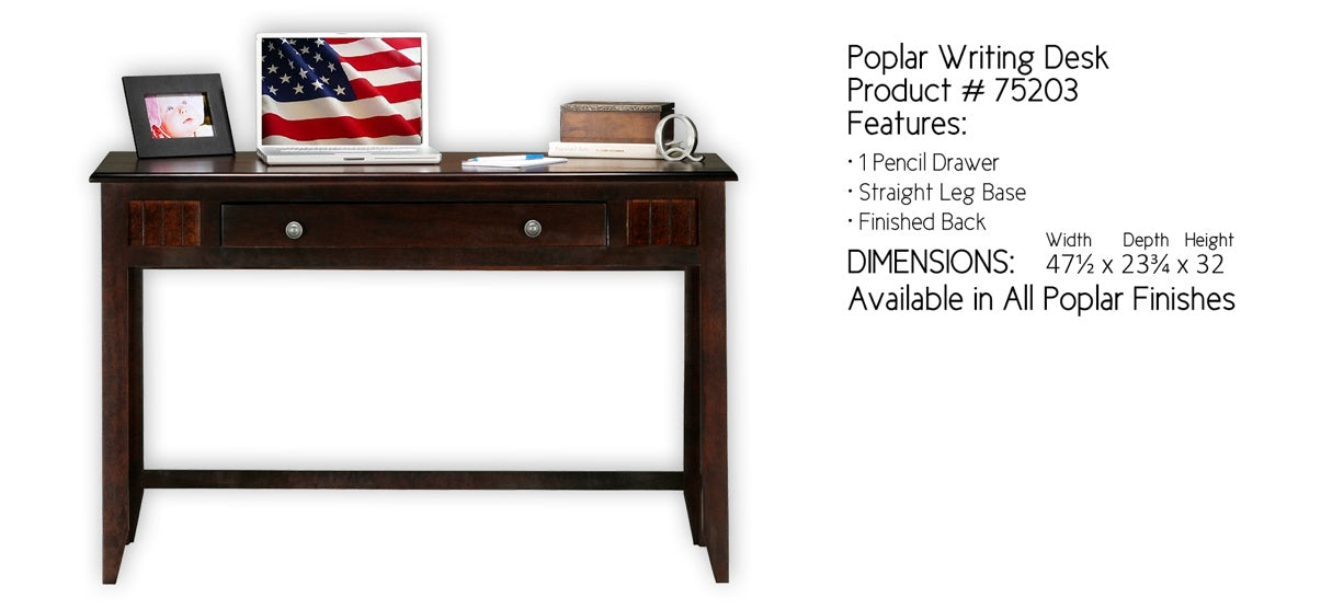 Poplar Writing Desk