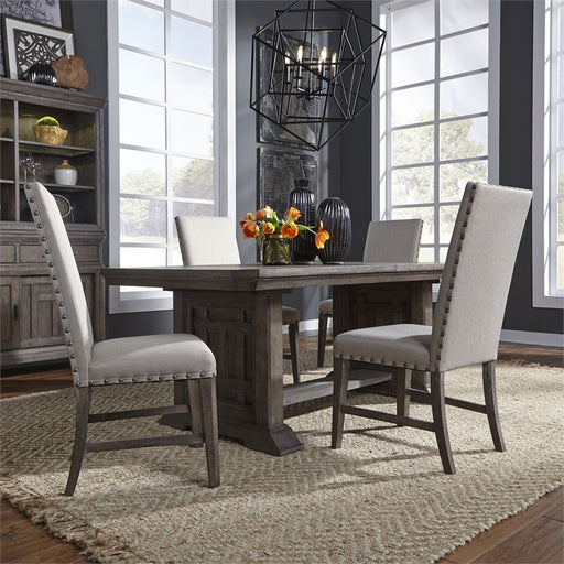Artisan Prairie (823-DR) 5 Piece Trestle Table Set