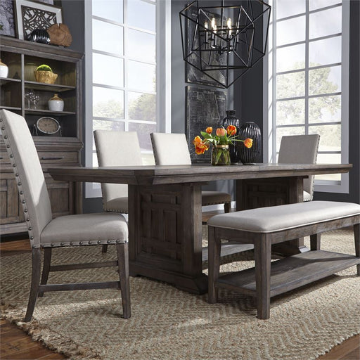 Artisan Prairie (823-DR) 6 Piece Trestle Table Set