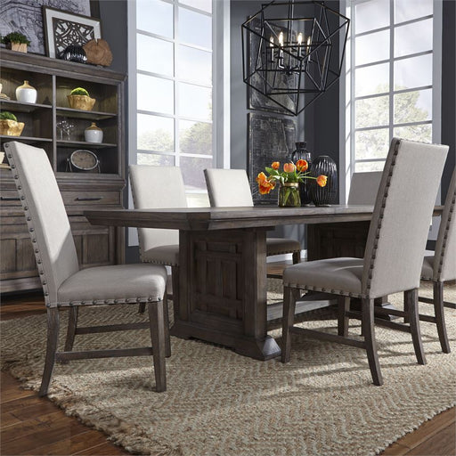 Artisan Prairie (823-DR) 7 Piece Trestle Table Set