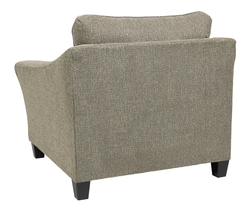 Accent Chair/Ottoman, Platinum