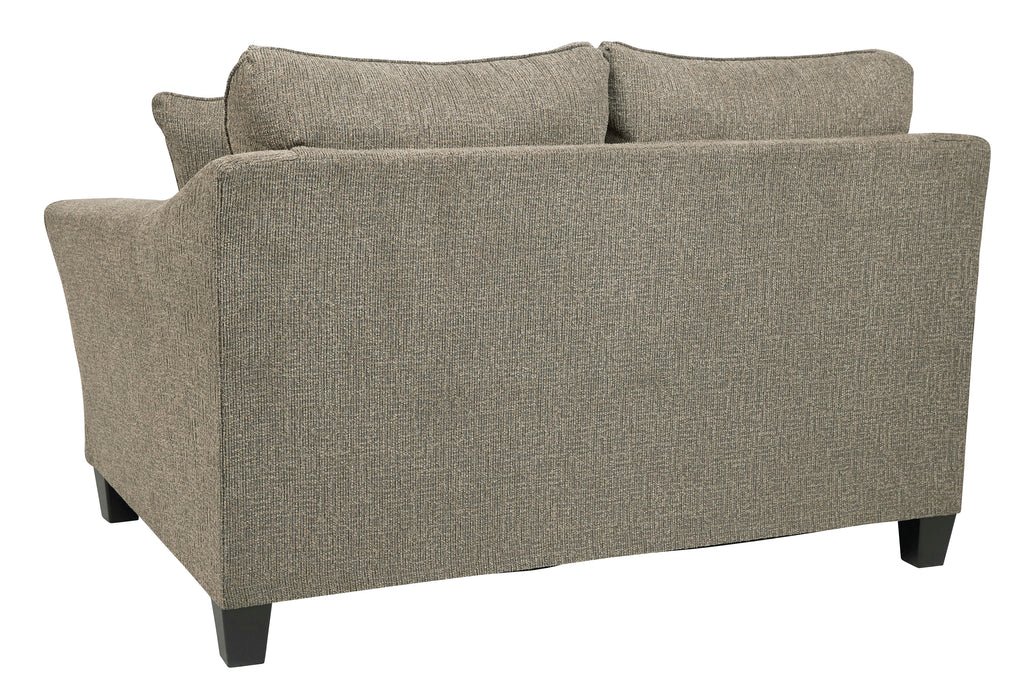 Contemporary Loveseat/Sofa, Platinum