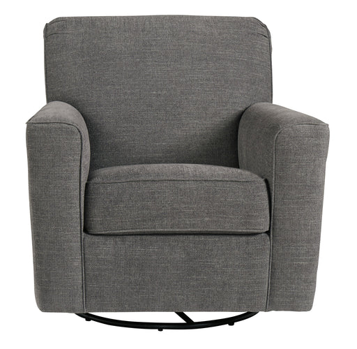 Swivel Glider Accent Chair, Charcoal