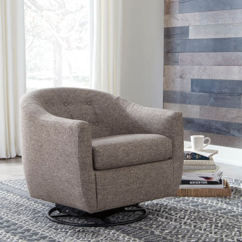 Swivel Glider Accent Chair, Taupe