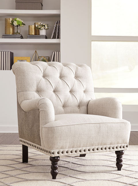 Accent Chair, Ivory/Taupe