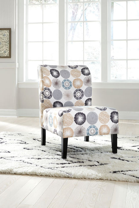 Accent Chair, Gray/Tan