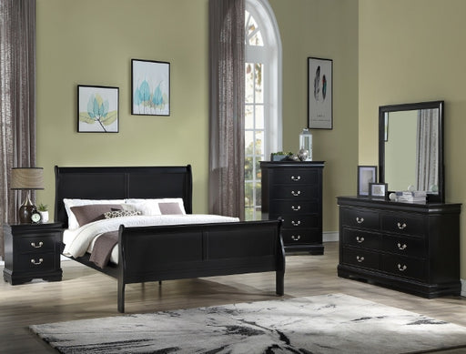 Louis Philip Bedroom Group Black