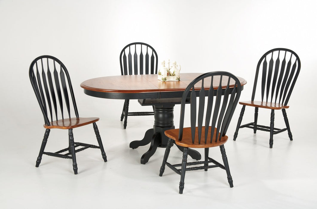 Single Pedestal Butterfly Leaf Table & Chairs