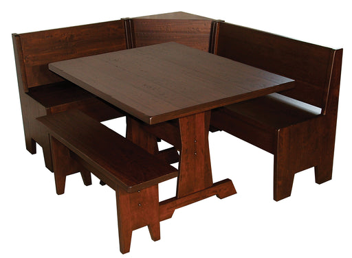 Heritage Nook Full Set Traditional Amish Made Custom Dining Set