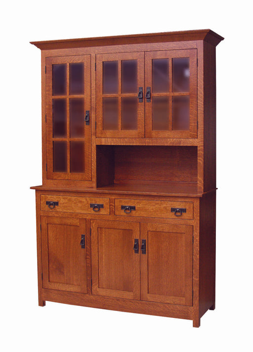 Grandwood Mission Amish Customizable 3 Door (2 drawer) Buffet&Hutch