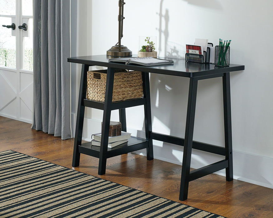 Home Office Small Desk Black