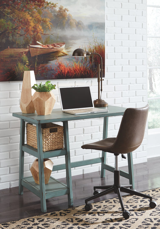 Home Office Small Desk Teal