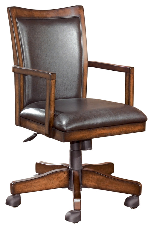 Home Office Swivel Desk Chair Medium Brown
