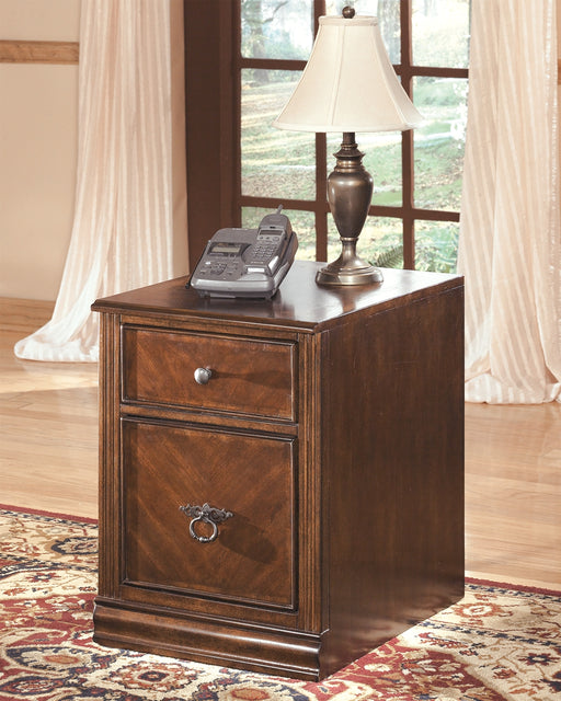 Home Office Filing Cabinet Medium Brown