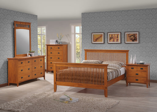 Honey Oak Mission Queen Bedroom Group