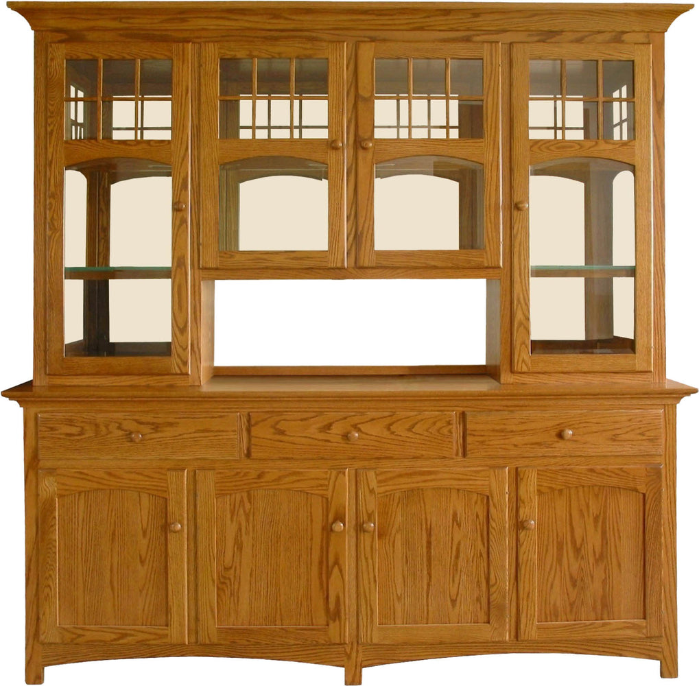 NBW Amish Customizable 4 Door (2Long 2Short) Buffet&Hutch