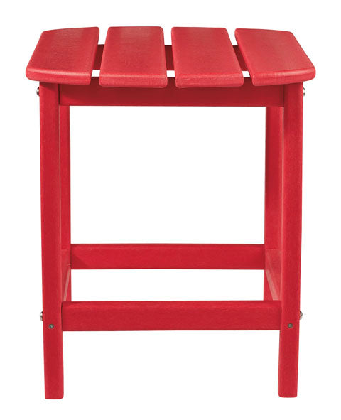 Rectangular End Table, Red