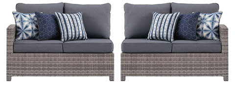 RAF/LAF Loveseats with Cushions, Gray