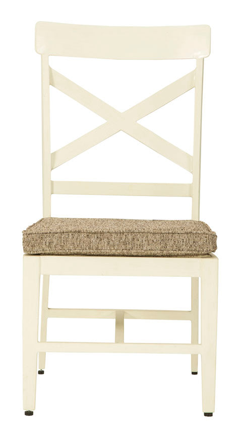 Chair with Cushion (2/Set), Antique White