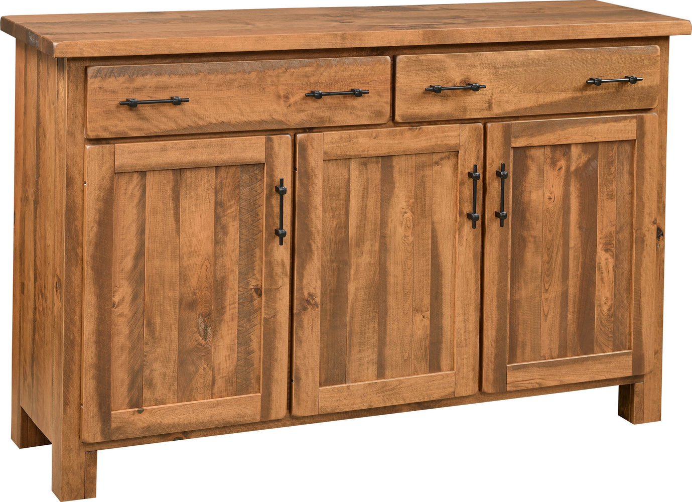 Roxford Amish Customizable Ruffsawn Server - 3 Door