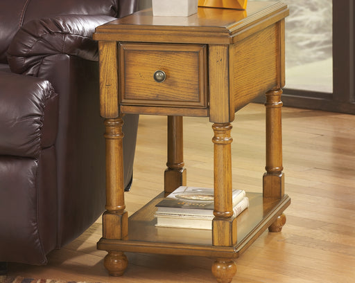 Breegin Warm Oak Chairside Table