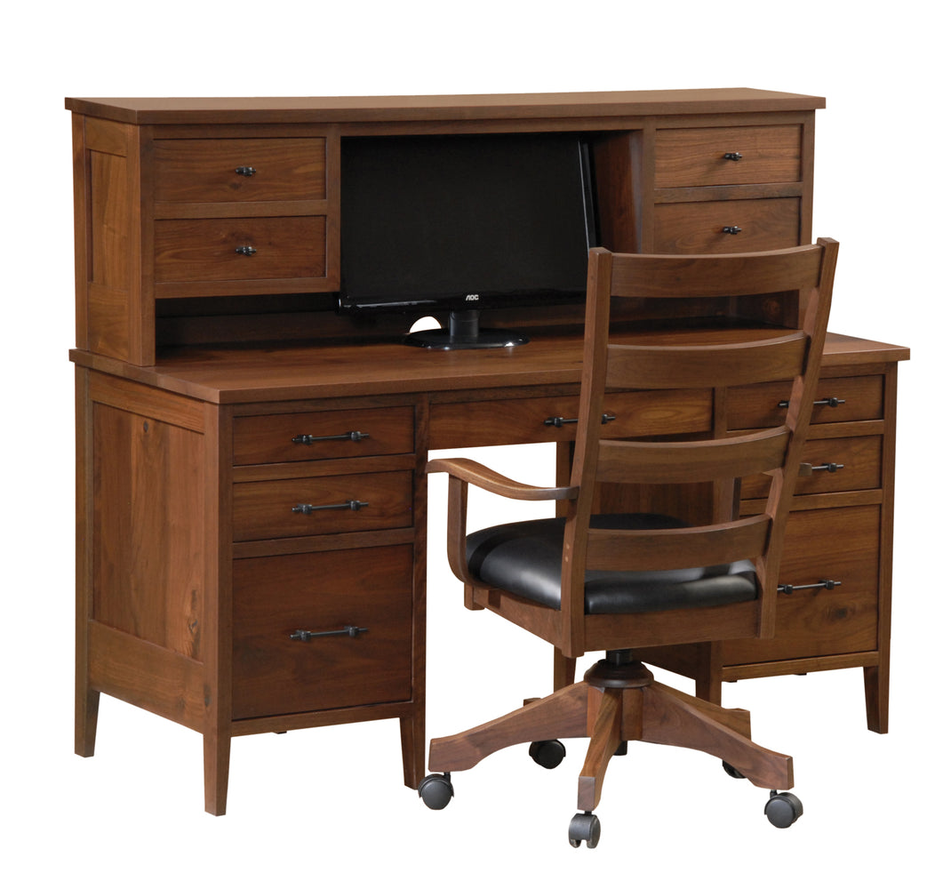 Amish Home Office Desk Custom Desk Walnut Sap Cherry Oak Maple Over 50 Stains