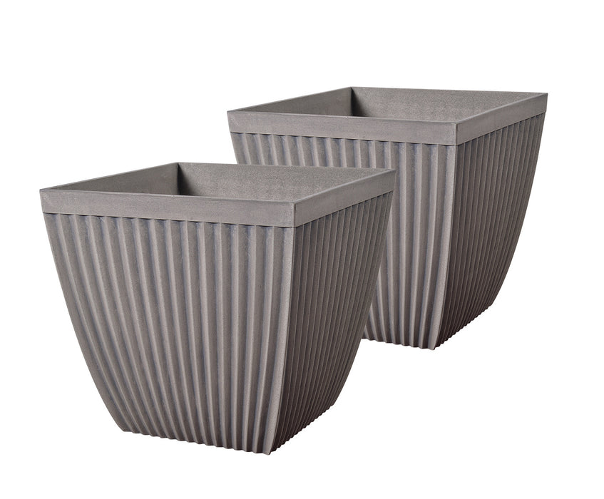 Poppy 2 Pc Planter Set Square
