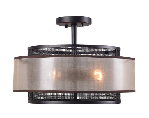 Alessandra 3 Light Semi Flush