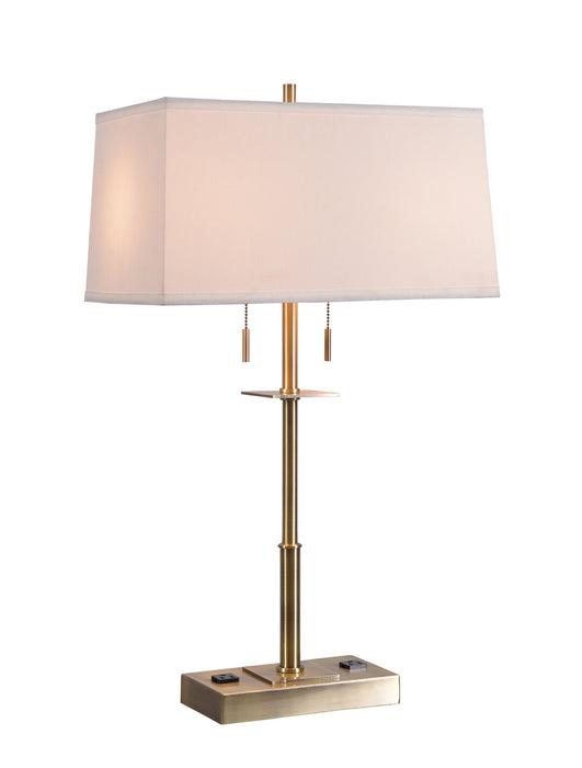 Amina Table Lamp W 2 Outlets