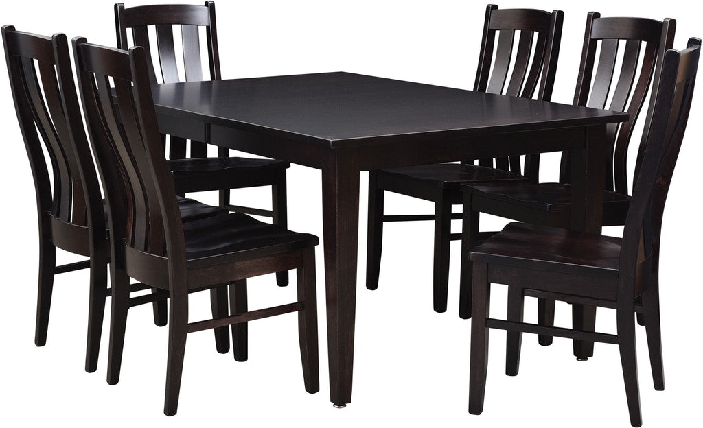 Raleigh Custom Amish Dining Table Set