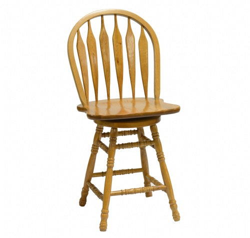 "Colonial Windsor 24"" Bowback Barstool (5125)"