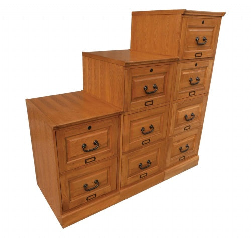 Solid Oak File Cabinets (8841)