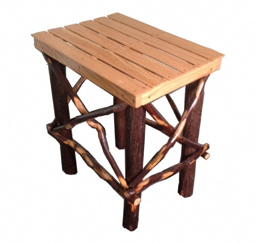 Amish Side Table, Oak/Hickory