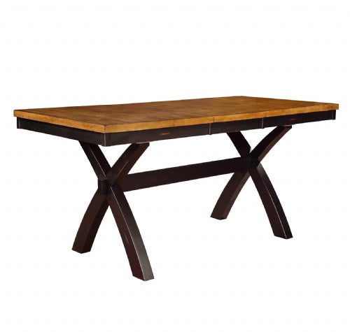 "Quinton X Base Gathering Table Top,36"" X 60"" (X 78"" W/1-18"" Butterfly), 36""H"