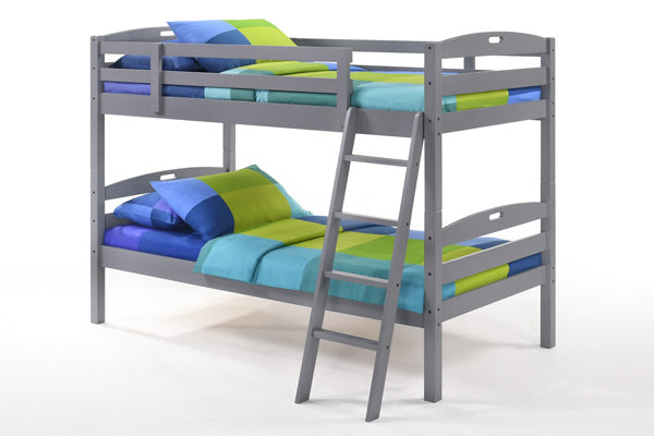 Sesame Twin Over Twin Bunk Bed-Grey