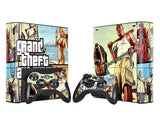 Grand Theft Auto 5 GTA 5 Vinyl Skin Sticker For Microsoft Xbox 360 E Slim Console Controller Controle For x box 360 SLIM E Decal