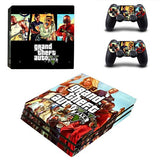 Grand Theft Auto V GTA 5 PS4 Pro Skin Sticker Decal Vinyl for Sony Playstation 4 Console and 2 Controllers PS4 Pro Skin Sticker