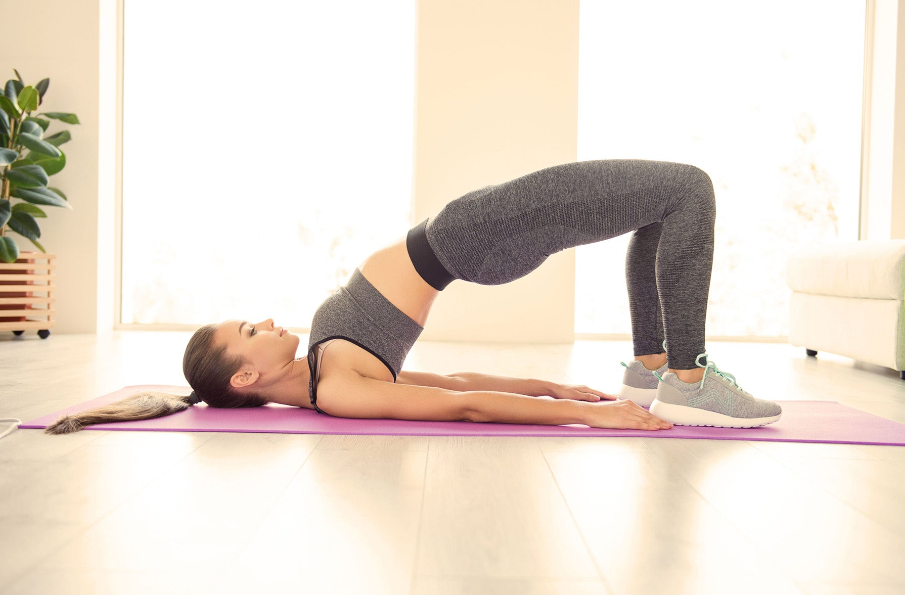bridge pose (yoga pose for lower back pain)