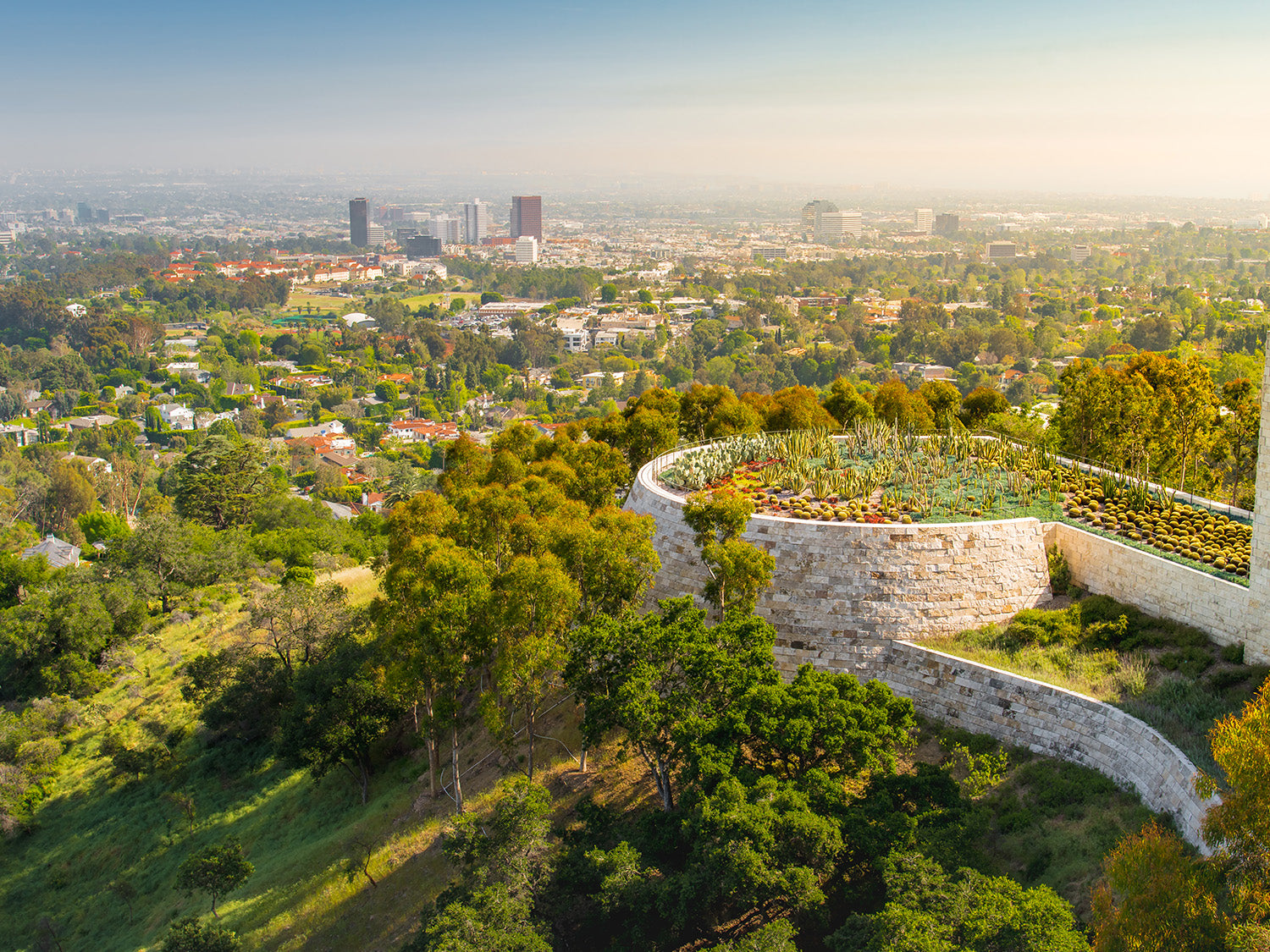 where to find the best botanical gardens in los angeles - getty museum