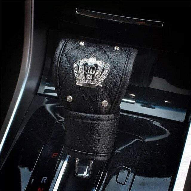 Crystal Crown Gear Shift Cover - Carreau