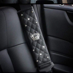 Crystal Crown Seat Belt Cover (Duo Pack) - Carreau