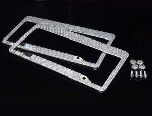 Crystal License Plate Frames (Front & Back) - Carreau