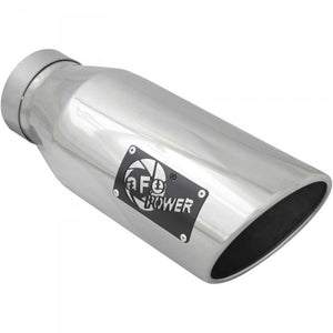 "AFE 49T40601-P15 6"" POLISHED EXHAUST TIP (RIGHT SIDE LOGO)"