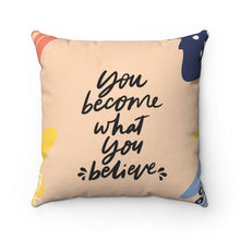 "Load image into Gallery viewer, Well Home: ""Becoming"" Positive Affirmation Throw Pillow"