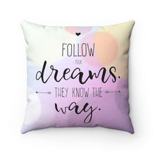 "Load image into Gallery viewer, Well Home: ""Follow"" Positive Affirmation Throw Pillow"