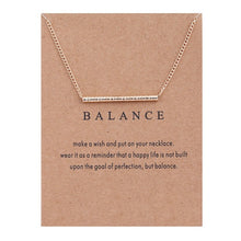 Load image into Gallery viewer, Positive Vibes Only: Balance Necklace
