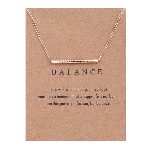 Positive Vibes Only: Balance Necklace
