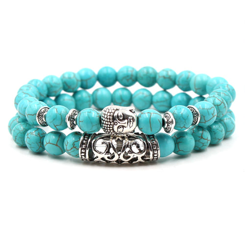 Mala Bracelet to Strengthen and Align: Turquoise