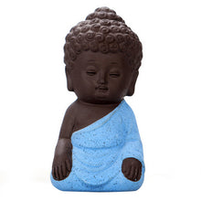 Load image into Gallery viewer, A Brown Monk - Mini Meditation Clay Statue